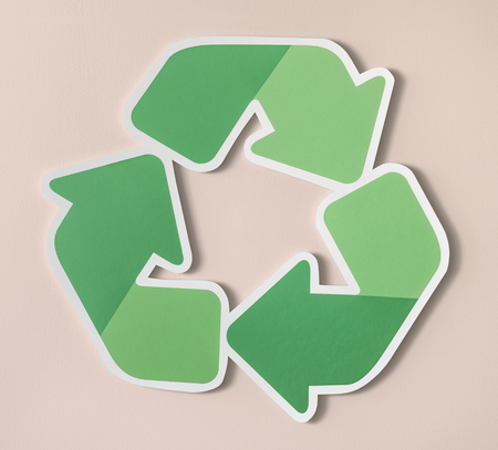 Reduce reuse recycle symbol icon Stock Photo