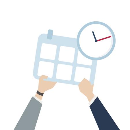 Illustration of time management icon Stock Photo
