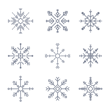 Illustration of cute snowflake icons Stock fotó - 109642803
