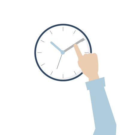 Illustration of hand with time management Stock Photo