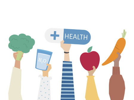 Illustration of healthy eating concept