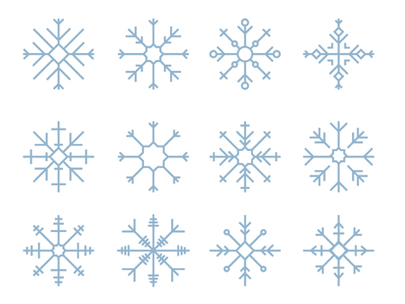 Illustration of cute snowflake icons Stock fotó - 109643160