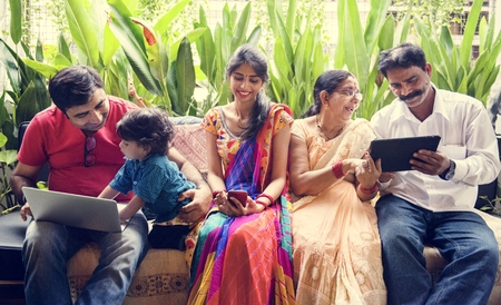 A happy Indian family 写真素材
