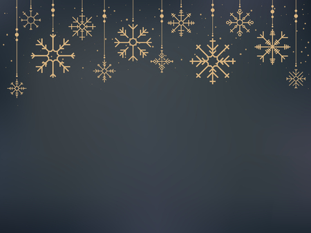 Illustration of cute snowflake icons Stock Photo
