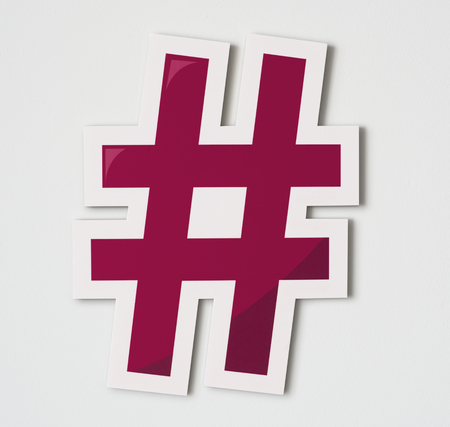 Hashtag online digital media icon Stock Photo