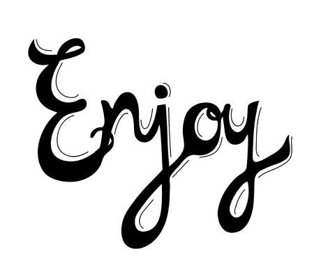 Enjoy word isolated on background Stock fotó