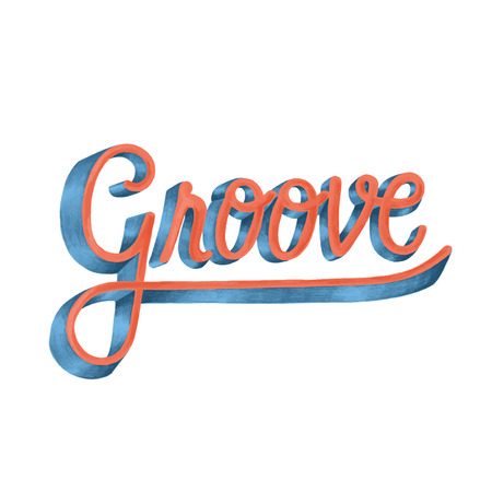 Groove motivational word design and style Reklamní fotografie