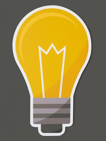 Creative light bulb icon isolated Archivio Fotografico - 109643520