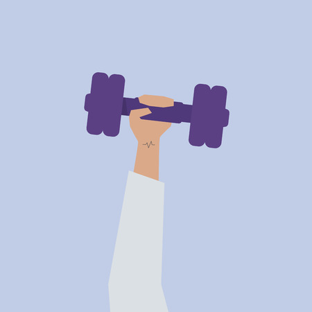 Illustration of someone lifting a dumbbell