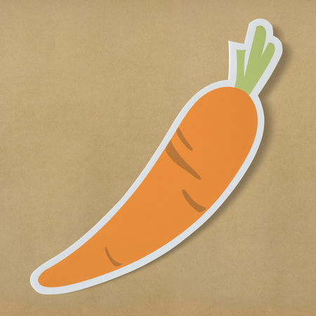 Healthy nutritious carrot cut out icon Stok Fotoğraf