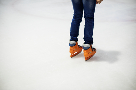 Ice skating on the ice rink leisure and fun lifestyle concept Stockfoto