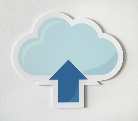 Cloud uploading icon technology graphic Stock Photo