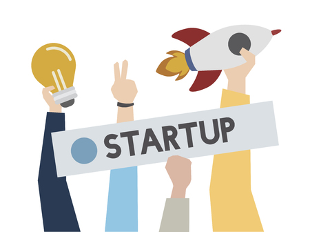 Startup and creative ideas concept