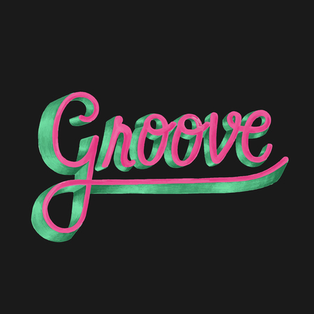Groove motivational word design and style Stock fotó
