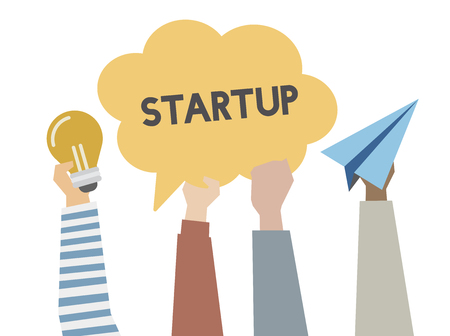 Illustration of startup and creative ideas concept Stock Photo