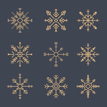 Illustration of cute snowflake icons 写真素材 - 109643912