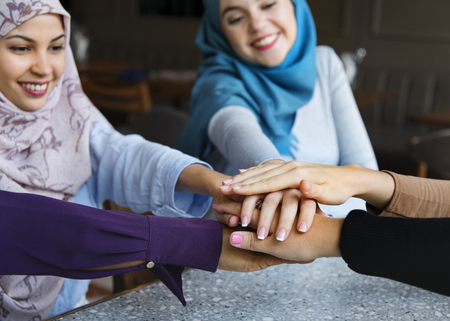 Muslim women with unity concept