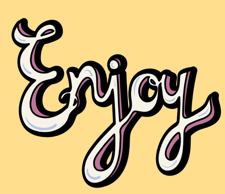 Enjoy word isolated on background Banco de Imagens