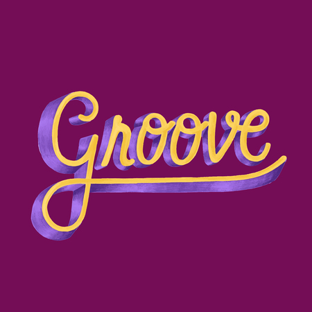 Groove motivational word design and style Фото со стока