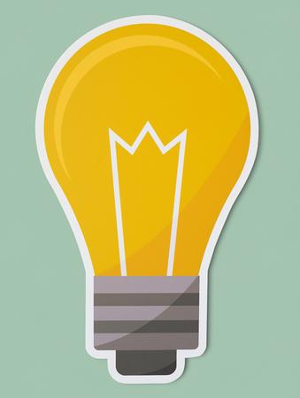 Creative light bulb icon isolated Stok Fotoğraf - 109644121