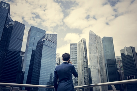 Asian businessman in a city 스톡 콘텐츠 - 109644208