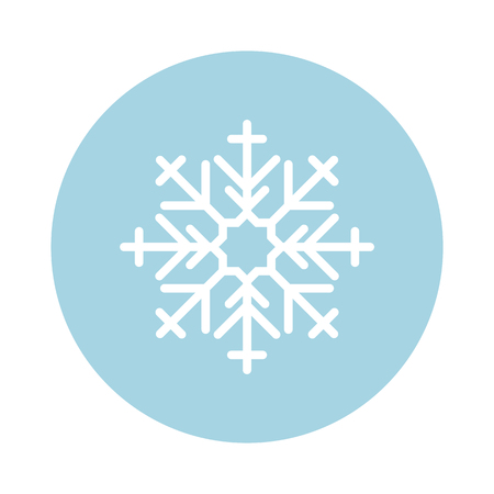 Illustration of a cute snowflake