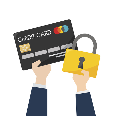 Illustration of credit card security