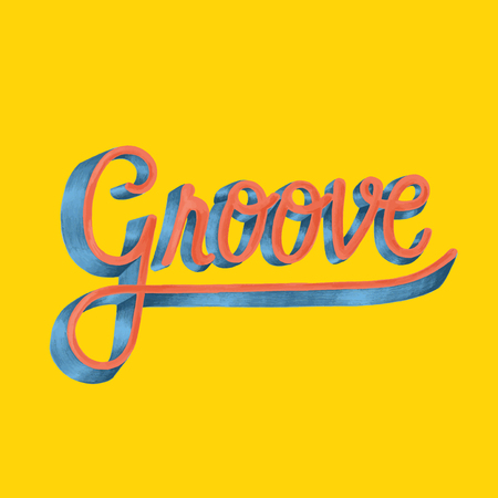 Groove motivational word design and style Stock Photo