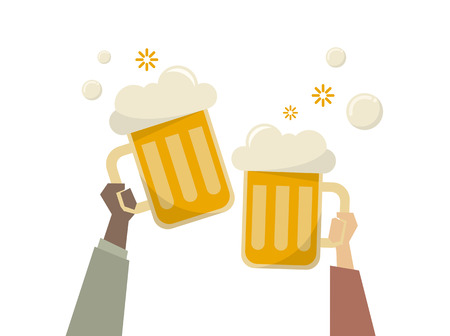 Illustration of people having beers Banco de Imagens - 109644405