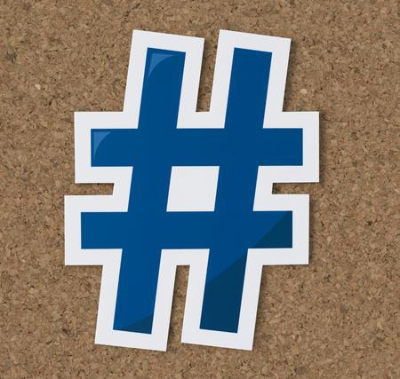 Hashtag online digital media icon Фото со стока
