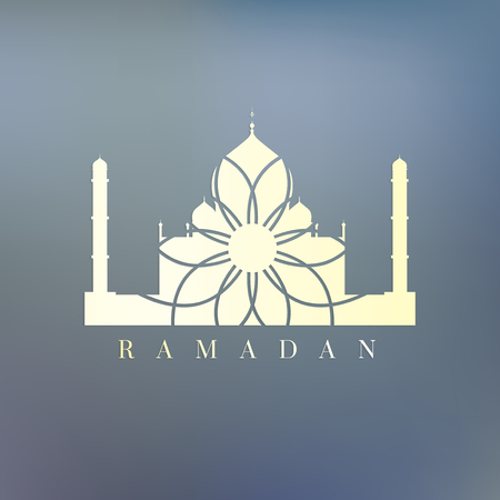 Symbol of the Islamic holiday Ramadan 版權商用圖片