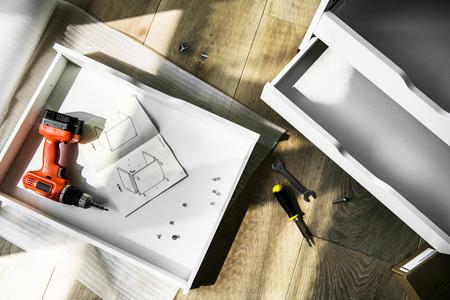 Cabinet installation DIY 写真素材
