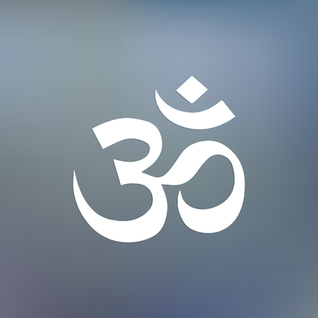 The sacred hindu aum symbol Stock fotó