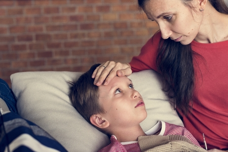 A sickness young boy Stock Photo - 109887703