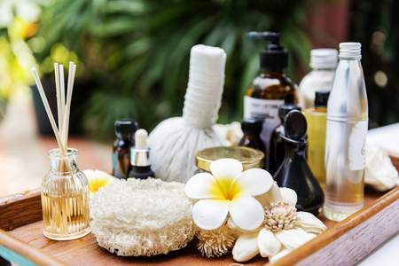 Spa products massage and body care Imagens