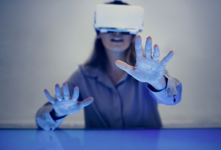 Virtual reality Stok Fotoğraf