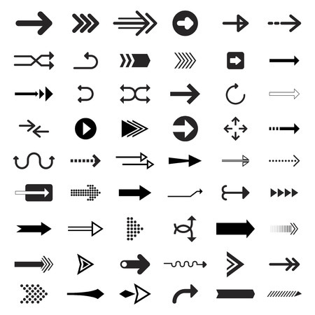 Collection of illustrated arrow signs Banco de Imagens - 109888398