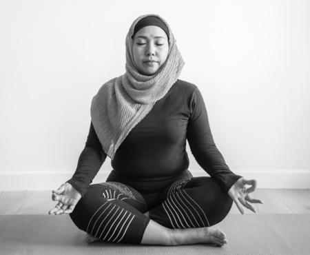 Muslim woman in meditation