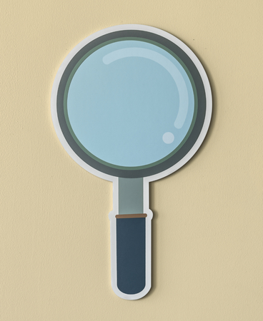 Magnifying glass search icon isolated Stok Fotoğraf - 109896415