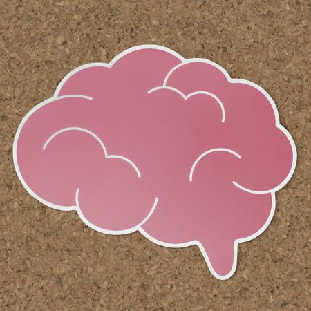 Pink brain creative ideas icon