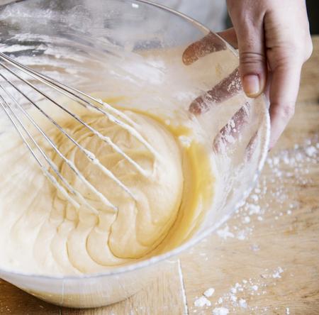 Kuchen Teig Lebensmittel Fotografie Rezept Idee Standard-Bild