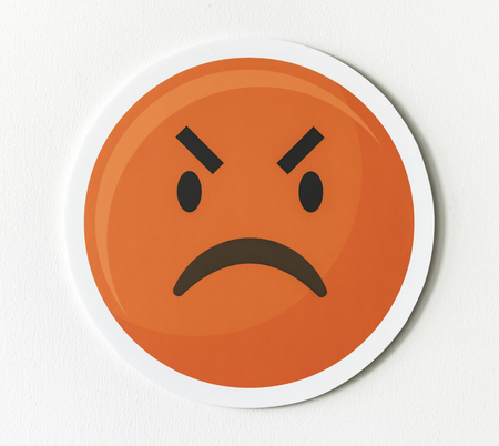 Emotikon emoji zły ikona twarzy