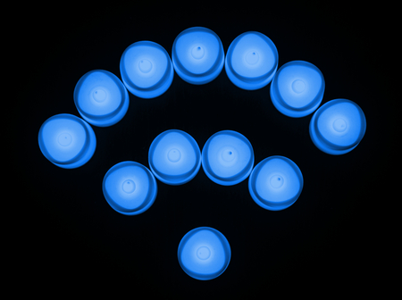 Blue lights wireless network icon
