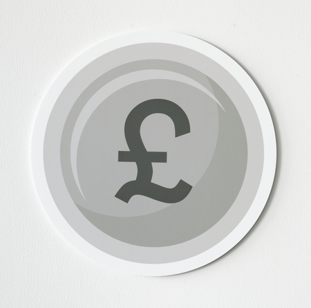 Pound sterling currency exchange icon Imagens