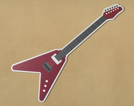 Icon of a red electric guitar Stock Photo