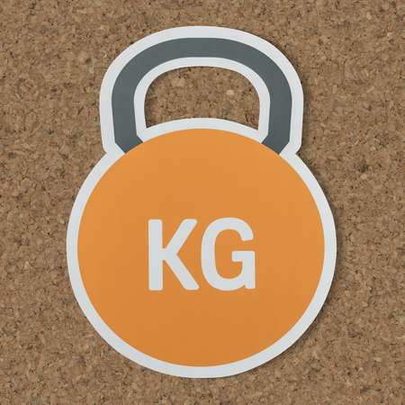 Kettlebell heavy weight lifting icon 스톡 콘텐츠