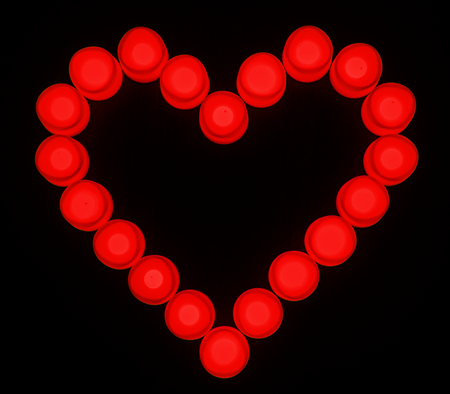Red lights heart shaped icon