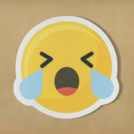 Sad crying face emoticon symbol 版權商用圖片 - 109896746