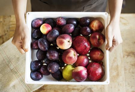 rganic fruits food photography recipe idea 免版税图像