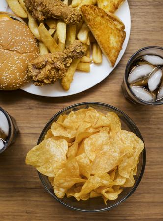 Fattening and unhealthy fast food Reklamní fotografie